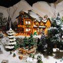 Lots of Christmas and Halloween Village foam display ideas.