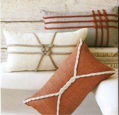 Декор подушек. Вяжем узлы