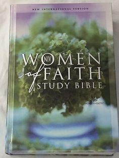 Women Of Faith NIV Study Bible Hardcover New International Version Flower Cover