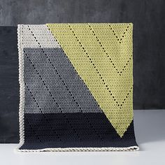 "Amazing crocheted blanket! So cool and modern. From Dutch designer Jeanette Bogelund Bentzen's book ""Lutter Lokken"" (apologies for missed accents). I hope this gets translated to English and/or e-book soon!"