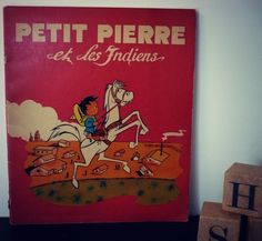 """livre pour enfant """"PETIT PIERRE et les indiens"""" vintage de la boutique SaintFrusquin sur Etsy"""