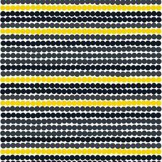 Räsymatto är ett lekfullt tyg med prickar i olika färger designat av Maija Louekari. Finns i olika färger och matchande porslin.