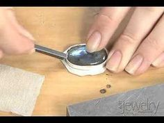 Art Jewelry - Setting a cabochon in a bezel part 3 - YouTube