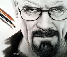 Portrait drawing of Heisenberg by Ayman Arts