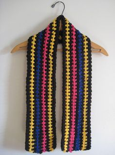 Colorful children's scarf multicolor chunky trend by LACollective