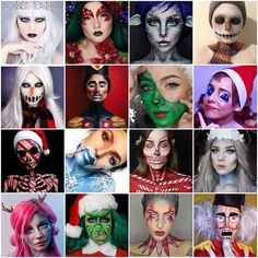 The holiday makeup looks this year have really surpassed all creativity! Thank you to our friends @MehronMakeupNYC and to the artists for sharing your art using #mehronmakeup products & for instilling so much inspiration in all of us... We truly wish we could feature YOU ALL in this image! Here are some of the artists who have wowed us! Read more on our BLOG www.mehronblog.blogspot.com #mehrongirl #mehronboy #nehronartist #mua #teammehron #mehron #holidaymakeup #faceandbodyart…