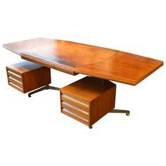 Fantastic Italian Osvaldo Borsani Desk F=for Tecno Milano, circa 1960