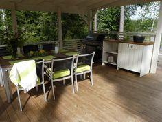 Olotar Varjo katoksen alla on hyvä ruokailla säällä kuin säällä Outdoor Furniture Sets, Outdoor Decor, Home Decor, Decoration Home, Room Decor, Interior Decorating