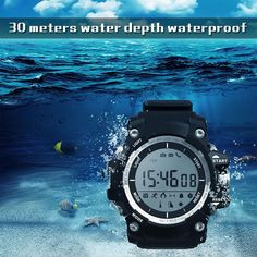 2017 Men Sport Wrist Smart Watch Fitness Activity monitor Tracker Pedometer Wearable Device Remote Camera PK NO.1 F3 #Affiliate