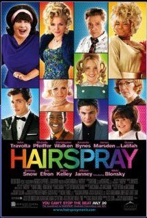 """Hairspray"" (dir. Asam Shankman, 2007) --- Pleasantly plump teenager Tracy Turnblad (Nikki Blonsky) teaches 1962 Baltimore a thing or two about integration after landing a spot on a local TV dance show. Based on the hit Broadway play, which was based on John Waters' 1988 movie which featured Ricki Lake as Tracy!"