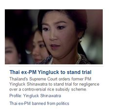 Thai ex-PM Yingluck to stand trial