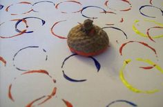 Acorn painting...we have so many acorns on the playground right now! Great for fine motor, too!
