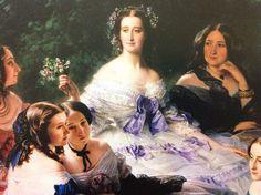 Fragmento ,de la pintura de Eugenia de Montijo ,con sus Damas de Honor