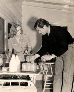 Carole Lombard & Clark Gable at home