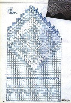 Crochet Knitting Handicraft: Barradinhos On 2 18 Crochet Borders, Crochet Diagram, Crochet Chart, Thread Crochet, Filet Crochet, Crochet Motif, Crochet Stitches, Knit Crochet, Crochet Patterns