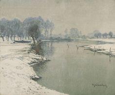 Max Clarenbach, WINTERLANDSCHAFT AN DER ERFT, Auktion 1000 Gemälde des 15. - 19. Jh., Lot 97