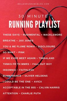 Click here for more playlists and to read the big debate over whether you should trail while listening to music or not.
