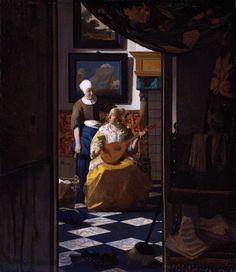 Vermeer | Vermeer,_Johannes-The_Loveletter