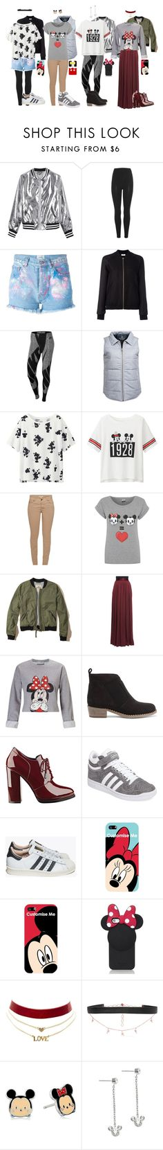 """""""Mickey and Minnie!"""" by cayuyita ❤ liked on Polyvore featuring Sans Souci, adidas Originals, Forte Couture, Closed, NIKE, United by Blue, Uniqlo, Barbour, George and Hollister Co."""