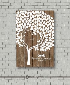Guest Book Wedding Guestbook Wedding Tree by MarshmallowInkLLC, $55.00