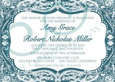 Custom Vintage Wedding Invitations by CCdesignSpace on Etsy, $45.00