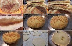 Voici Une recette par Nadiane toute simple du batbout ou pain à la poêle, que l'on peut faire grand ou tout petit pour farcir.