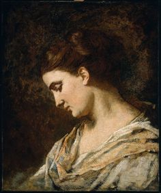 Thomas Couture, Head of a Woman, c. 1855-60