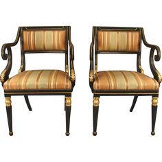 Regency Parcel Gilt Open Armchairs @shoprubylux #DanielSteinAntiques #Regency