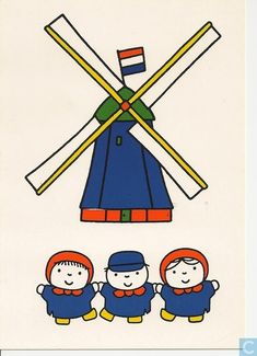 Postcard travelled km miles) in 6 days (from Netherlands to U.): Prentenboeken (The Picturebooks) - Dick Bruna