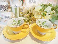 ポーセラーツ スズランのカップ&ソーサー