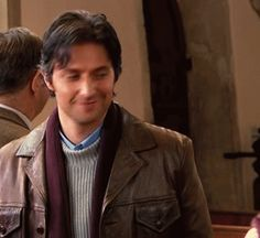Richard Armitage as Harry Jasper Kennedy in The Vicar of Dibley (2006-2007) Harry at his wedding rehearsal (gif)