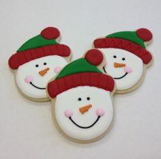 Knit Cap Snowman - Christmas Cookies