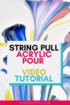 Watch a string pull acrylic pour video tutorial!   acrylic pouring   color theory   pour painting #fluid art #stringpull Acrylic Painting Lessons, Acrylic Painting Tutorials, Pour Painting, Diy Painting, Painting Abstract, Acrylic Paintings, Watercolor Painting, Watercolor Tips, Beginner Painting