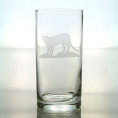 Cougar Design Etched Sand Blasted Glass  by GlassIslandDesigns, $17.00