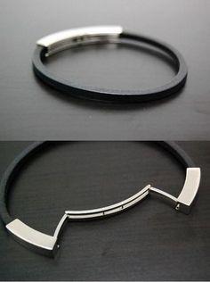 Leather and metal cuff, HERMÈS