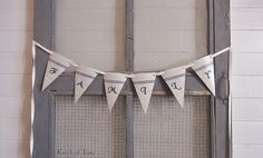 Grain Sack Banner - FAMILY by KnickofTime, $19.00