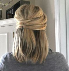 Wish I knew how to do hair. I love this! oh my goodness i forgot i used to wear my hair like this! take 2 bobby pins and secure the middle section of hair. bring hair around from the right and pin in place, covering the first two pins. alternate sides. It's easiest if you have a mirror in front and in back of you.