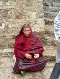 I really have to hand it to the monks there. They are able to stand the extreme cold while wearing so little.  Click photo to read my Drepung Monastery blog post.