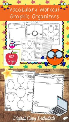 Aug 30, 2020 - My Vocabulary Workout features a variety of graphic organizers to help your students gain a deeper understanding of academic terms. These organizers are versatile and can be used with any subject or lesson.This product includes both a print and DIGITAL copy. The digital copy is great for DISTANCE LE...