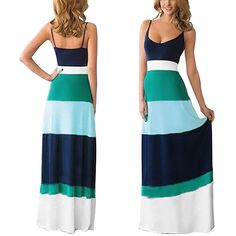 Tenworld Women Summer Dress Boho Long Maxi Evening Party Dress ** Click image to review more details. (This is an affiliate link and I receive a commission for the sales)