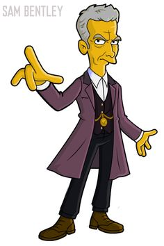 Springfield Punx: Doctor after regeneration Doctor Who Outfits, Doctor Who 12, 12th Doctor, Twelfth Doctor, Saga, Peter Capaldi Doctor Who, Character Sketches, Weird Art, Dr Who