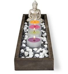Personal Buddha Candle Garden