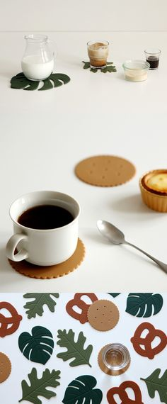 Yes, a coaster can be super cute and decorative! The Dailiylike Silicone Coaster Set comes in cute leaf, pretzel, and biscuit design and makes a wonderful housewarming gift!