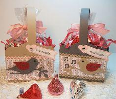 Vicki B.'s box using Julie Davison's tutorial (link in post); Stampin Up; Bird Bunch