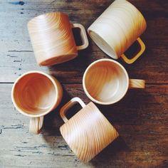 Japanese Cypress Hinoki Wood Mugs