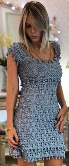 crochet dress by Vnessa Montoro                                                                                                                                                                                 More