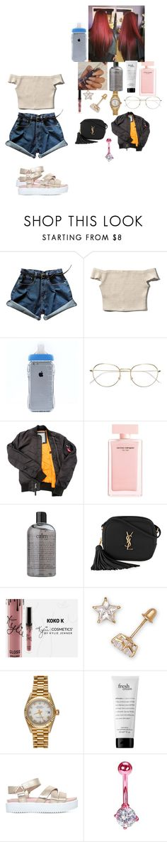 """~ 09 ~"" by foodislyfe ❤ liked on Polyvore featuring Abercrombie & Fitch, RetroSuperFuture, Narciso Rodriguez, philosophy, Yves Saint Laurent, Rolex and KG Kurt Geiger"