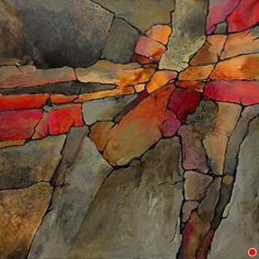 Rainbow Canyon, 022817, 600px by Carol Nelson Acrylic ~ 24 inches x 24 inches