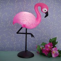 Stunning soft light lamp is shaped like a pink flamingo, its LED lights offering ambient pink glow ideal for nightlight and decoration! Small Bedside Lamps, Owl Lantern, Fiber Optic Christmas Tree, Led Projects, Wildlife Decor, Bedroom Night Stands, Color Changing Led, Holiday Lights, Pink Flamingos