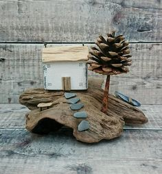 Check out this item in my Etsy shop https://www.etsy.com/uk/listing/619274859/wood-sculpture-driftwood-house-reclaimed